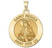 Saint Begga Round Religious Medal  EXCLUSIVE