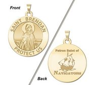 Saint Brendan Double Sided Navigator Round Religious Medal    EXCLUSIVE