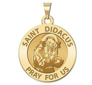 Saint Didacus Round Religious Medal  EXCLUSIVE