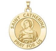 Saint Catherine of Alexandria Round Religious Medal    EXCLUSIVE