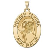 Mother Teresa   Oval Religious Medal  EXCLUSIVE