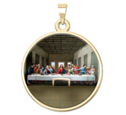 The Last Supper  by Leonardo Da Vinci  Religious Medal  Color EXCLUSIVE