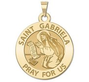 Saint Gabriela Round Religious Medal   EXCLUSIVE