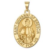 Saint Giovanni of Brescia OVAL Religious Medal  EXCLUSIVE