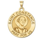 Saint Constance Round Religious Medal    EXCLUSIVE