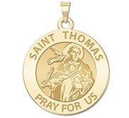 Saint Thomas Aquinas Round Religious Medal   EXCLUSIVE