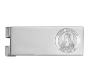 Stainless Steel Engravable Saint Isabella Money Clip