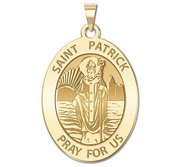 Saint Patrick Religious Medal  OVAL  EXCLUSIVE