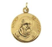 Saint Zachary Round Religious Medal