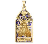 Divine Mercy   Stained Glass Religious Medal  EXCLUSIVE