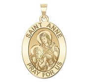 Saint Anne Oval Religious Medal  EXCLUSIVE