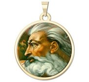 GOD Religious Round Medal  Color EXCLUSIVE