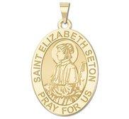 Saint Elizabeth Seton Oval Religious Medal   EXCLUSIVE
