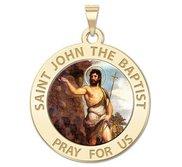 Saint John the Baptist Religious Medal  Color EXCLUSIVE
