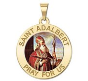 Saint Adalbert Round Religious Medal   Color  EXCLUSIVE