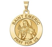 Saint Emeric Round Religious Medal    EXCLUSIVE