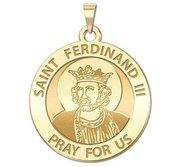 Saint Ferdinand III Round Religious Medal   EXCLUSIVE