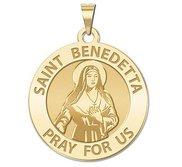Saint Benedetta Cambiagio Frassinello Round Religious Medal  EXCLUSIVE