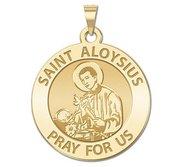 Saint Aloysius Gonzaga Round Religious Medal  EXCLUSIVE
