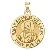 Saint Francis de Sales Round Religious Medal   EXCLUSIVE