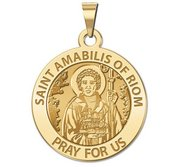 Saint Amabilus of Riom Round Religious Medal  Male   EXCLUSIVE