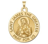 Saint James the Greater  portrait  Religious Medal  EXCLUSIVE