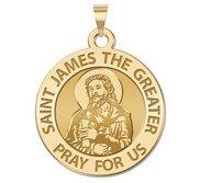 Saint James the Greater  portrait  Religious Medal  EXCLUSIVE