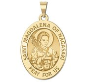 Saint Magdalena of Nagasaki Religious Medal   Oval  EXCLUSIVE