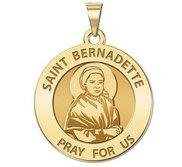 Saint Bernadette  Portrait  Round Religious Medal   EXCLUSIVE