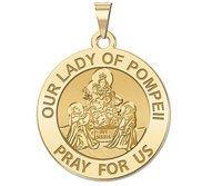 Our Lady of Pompeii Religious Medal   EXCLUSIVE
