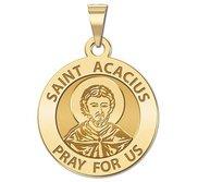 Saint Acacius Round Religious Medal    EXCLUSIVE