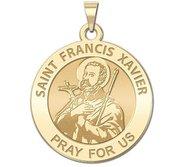 Saint Francis Xavier Round Religious Medal   EXCLUSIVE