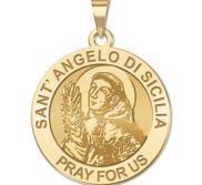 Sant  Angelo Di Sicilia Round Religious Medal    EXCLUSIVE