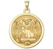 baptism charm medallion product gold layered