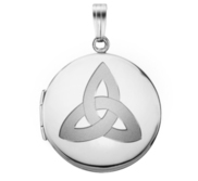 Sterling Silver Round Celtic Knot Picture Locket