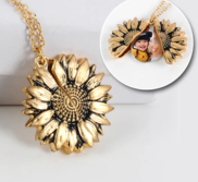 Exclusive Sunflower Photo Necklace   Chain