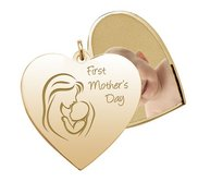 First Mother s Day  Heart Swivel Photo Pendant