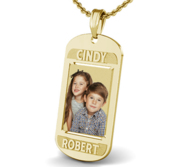 Dog Tag w  2 Names Etched