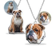 Upload Your English Bulldog Photo for Color Charm or Pendant