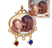 Mother s Photo Engraved Birthstone Pendant