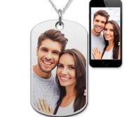 Stainless Steel Valentine s Day Photo Engraved Dog Tag Package