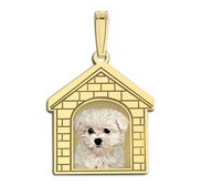 Photo Engraved DogHouse Photo Pendant