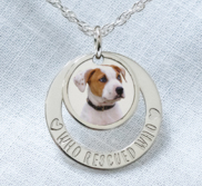 Personalized Photo Engraved Pet Swivel Pendant