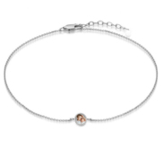 Photo Engraved Anklet w  Box Chain   Lobster Claw