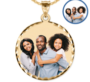 38 mm Large Round Photo Pendant