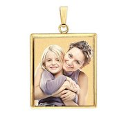 Square with Bezel Frame Photo Pendant Picture Charm