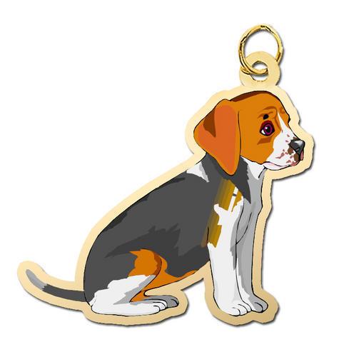 Beagle-Harrier Select Gifts I Love My Dog Gold-Tone Cufflinks /& Money Clip