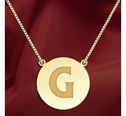 Initial  G  Designer Pendant