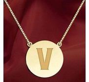 Initial  V  Designer Pendant