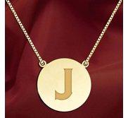 Initial  J  Designer Pendant